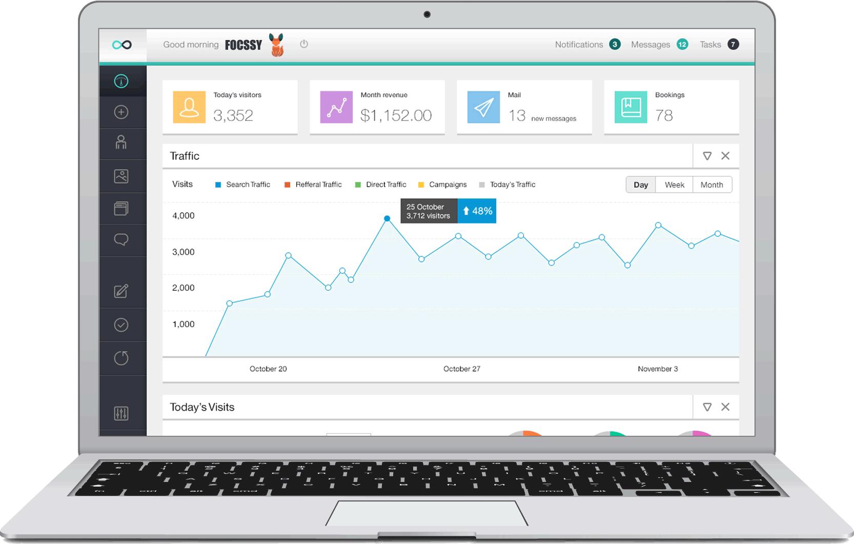 Digital Marketing - Services - Laptop displaying Tracking Analytics